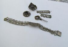 Vintage 925 Silver jewelry lot from israel 50's,Judaica jewelry, Israeliana