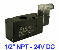 "1/2"" Inch Pneumatic 3 Way Electric Directional Control Air Solenoid Valve 24V DC"