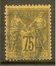 """FRANCE STAMP TIMBRE N° 99 """" TYPE SAGE 75c VIOLET SUR ORANGE """" OBLITERE TB"""