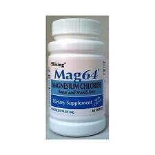 NEW MAG 64 MAGNESIUM CHLORIDE WITH CALCIUM 60 TABLETS