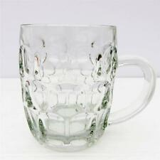 Vintage Retro 1970s Ravenhead Half Pint Pot Dimple Glass Tankard
