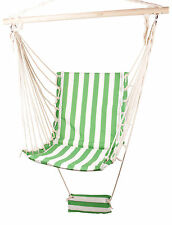New Deluxe Swing Hammock Canvas Outdoor Haning Rope Chair Patio Garden 120Kg