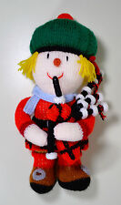 """Scottish Bagpipe Playing Unique Handmade 14"""" Crochet Knit Doll!"""