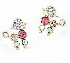 Basket Hill , Girls Colorful Crystal POODLE Post Earrings