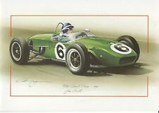 LOTUS 18 Pau GRAND PRIX 1961 J Clark grandi greeting card ARTE Christopher Dugan