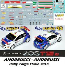 DECAL  1/43 - Peugeot  208 R5 - ANDREUCCI - Rally Targa Florio  2016 - DECAL