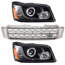 For Toyota Highlander Kluger 2001-07 LED Headlights with Grille Land Rover Style