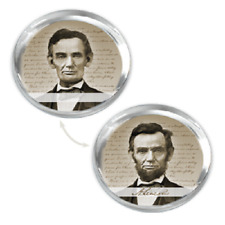 Abraham Lincoln Lenticular Paperweight GLASS PAPER WEIGHT NEW