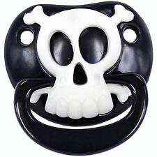 BILLY BOB BLACK PIRATE SKULL X BONES CHILDRENS PACIFIER  baby pacifer teether