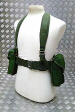 Genuine 80`s Army Issue 5PC Webbing Set  Yoke Belt And Pouches Heavy Cordura NEW