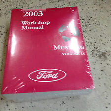 2003 Ford Mustang Gt Cobra Mach Service Shop Repair Workshop Manual BRAND NEW