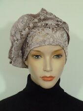 Fearlessly stylish lagenlook pale dusky pink lace vintage '20 style cocktail hat
