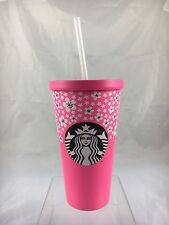 Starbucks 2017 Pink, Stainless Steel, Cherry Blossom 16oz Cold Cup,  New