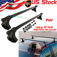 "Universal Pair Car Top Luggage Kayak Cargo Cross Bars Roof Rack Carrier 48"" SUV"