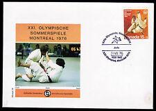 Kanada 604, Olympiade 1976 auf Sonderumschlag mit Sonderstempel