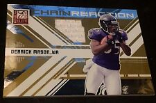 DERRICK MASON 2009 Donruss Elite GAME JERSEY Chain Reaction GOLD #d /299 RAVENS