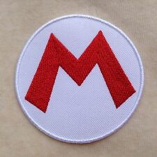 SUPER MARIO GAME LOGO KIDS CHILDREN EMBROIDERY IRON ON PATCH BADGE