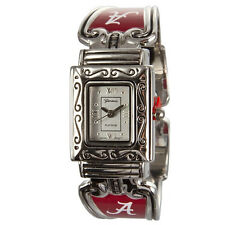 WOMENS University of Alabama Crimson Tide  Silver tone cuff band watch NWT