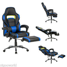 Executive Racing Gaming Chair High Back Reclining Faux Leather Chair w/ Footrest