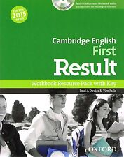 CAMBRIDGE ENGLISH FIRST RESULT FCE Workbook Pack with Key & CD-ROM 2015 Exam NEW