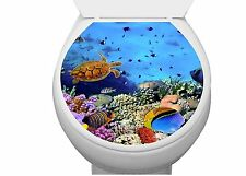 Asmi Collections Toilet Seat Wall Stickers Fish Underwater