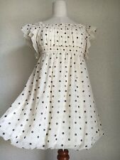 1196.axes femme Milk-color gritter polka dot chiffon frilly fairly mini dress