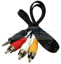 3.5 mm Jack a 3 RCA Cavo Audio Video / Audio / Cavo AV PER Canon / Sony / Jvc UK C003