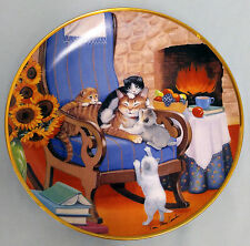 "FRANKLIN MINT COLLECTORS PLATE Fine Porcelain Limited Edition ""Time to play"""