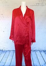 Victoria's Secret Silk Red Pajama Set Loungewear Size M