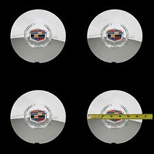 4 Cadillac Deville DTS Chrome Wheel Center Hub Caps 5 Lug Rim Lug Cover Hubs RC