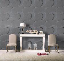 Gris, Negro Y Plateado Con Purpurina, pasta de la pared, diseñador, soplado del papel pintado