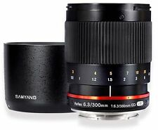 Samyang 300mm F6.3 Telephoto Mirror Lens for Fuji X - Black - SY300M-FX-BK