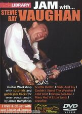 Lick Library Learn To Play Jam con Stevie Ray Vaughan Scuttle Buttin Guitarra Dvd