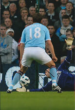 Gareth BARRY SIGNED Autograph 12x8 Photo AFTAL COA Man City EVERTON Genuine