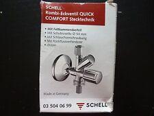 Schell Kombi-Eckventil mit Zubehör, chrom, 035040699, neu