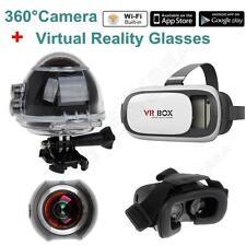 BOBLOV AT360H WiFi Panoramic Video Camera 4K 2448P Sport VR Camcorder+VR Glasses