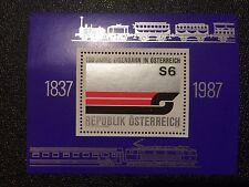 Österreich 1987  - Block9 postfrisch - 150 J. Eisenbahn