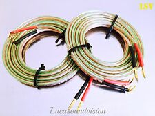 NEW OEHLBACH T-1010 2x4mm Speaker Cables 2x 4.0m (A Pair) Terminated