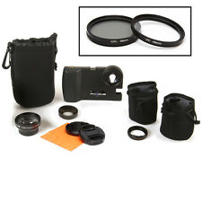 Phocus 3 Lens Bundle for iPhone 4 and 4s with carrying cases