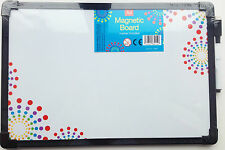 "A4 Magnetic White Board, Pen & Eraser Sticks To Fridge Door Magnetically 12""X8"""