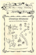 M306 Miniature Christmas Holiday Embroidery hot iron-on transfers 35+ images