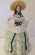 Franklin Mint Scarlett O'Hara Porcelain Teapot with Promotional Booklet