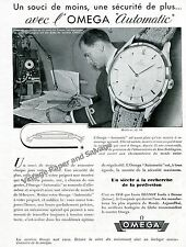 1948 Omega Watch Company Air France Omega Automatic Watch Advert French Print Ad