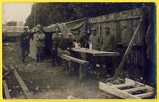 cpa Carte Photo Militaire à Identifier Guerre camp SOLDATS N°13 sur 1 casquette