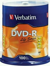 100 verbatium 4.7GB 16X DVD-R 100 Packs