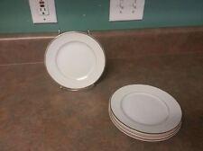 4 Japan Vtg.SONNET Fine China BREAD/BUTTER PLATES  White/Gold