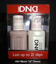 """DND Daisy Soak Off Gel Polish Short """"n"""" Sweet 444 full size 15ml LED/UV gel duo"""