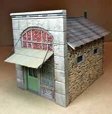 "O/On30/On3 Scale Post Office Kit-Rich White Models - Hydrocal ""Walls Only"""