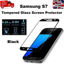 Full 3D Rounded Tempered Glass Film Screen Saver For Samsung Galaxy S7 BLACK