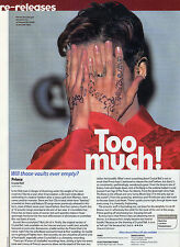 (-0-) Rare PRINCE A4 CLIPPING CUTTING Magazine CRYSTAL BALL CD REVIEW (-0-)